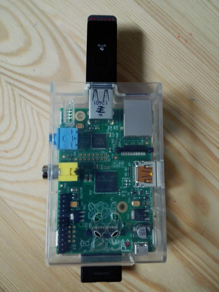 Raspberry Pi B with Netgear WNA1100